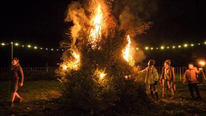 Zaterdag kerstboomverbranding aan kerk van Stalhille