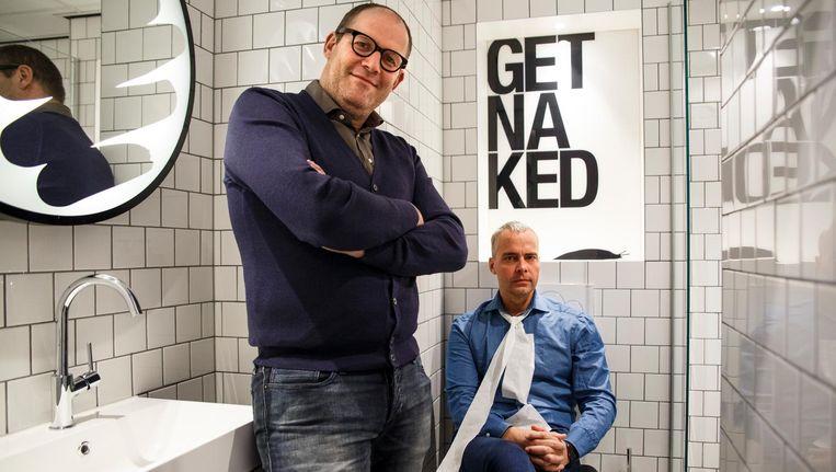 Sam Cohen (links) en Marco Lemmers. 'Tien jaar geleden zat duurzaamheid in de alternatieve hoek' Beeld Carly Wollaert