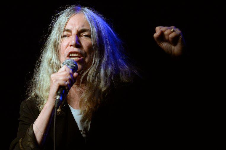 Patti Smith tijdens een concert in 2015 in Zwitserland  Beeld AP