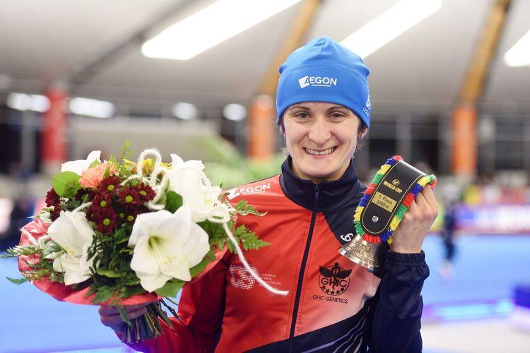 Martina Sablikova, winnares van de drie kilometer. Beeld epa
