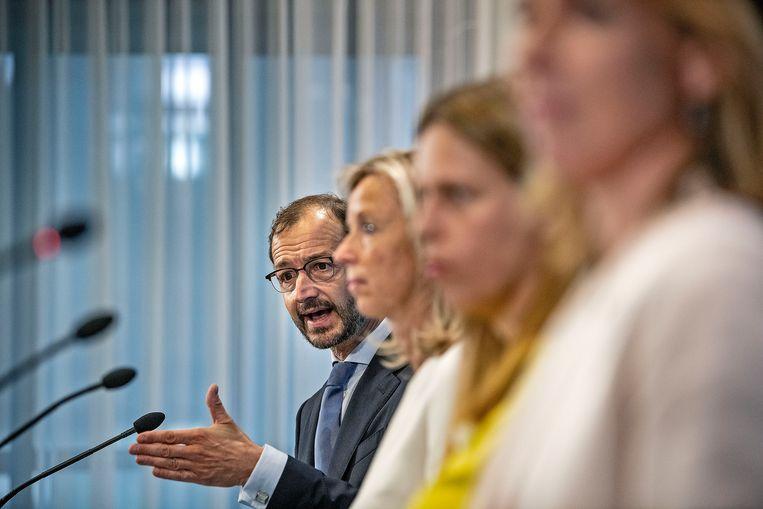De presentatie van het Klimaatakkoord. Beeld Guus Dubbelman