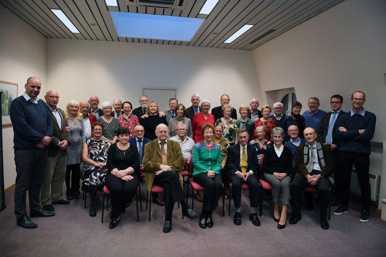 Jubilarissen in Oud-Heverlee. De gouden huwelijken