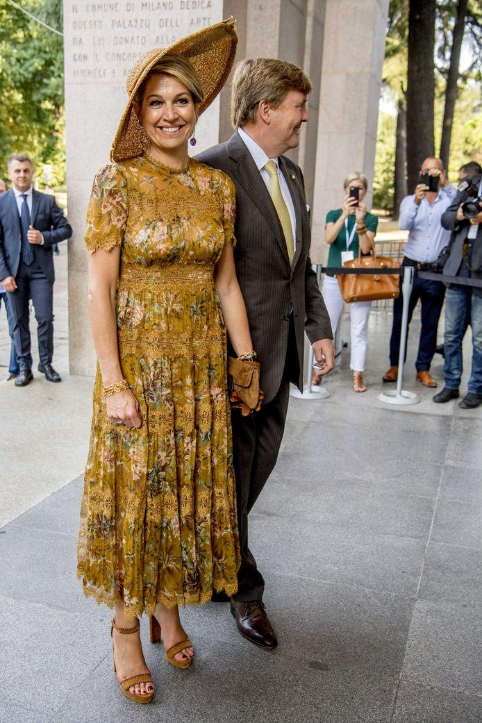 Koning Willem-Alexander en koningin Máxima bezoeken het Design Museum Triennale tijdens de laatste dag van het staatsbezoek aan Italië, in juni.