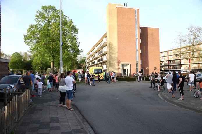 Veel mensen kwamen op de situatie in Tiel af.