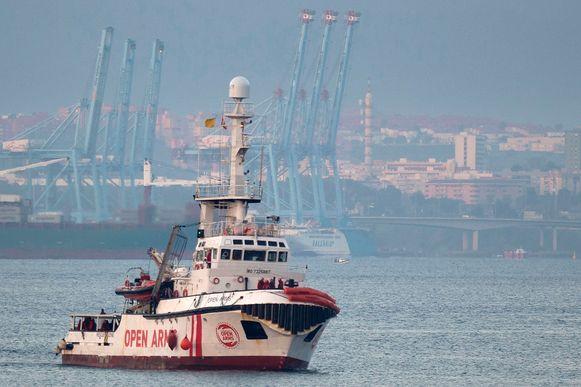 Archiefbeeld. Het schip Open Arms van de Spaanse ngo Proactiva.
