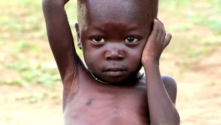 Kleine Jon van de wervingscampagne van Save the Children. Beeld Save the Children