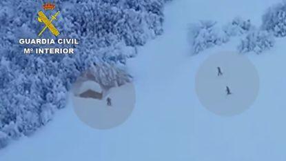 VIDEO: Guardia Civil redt man die 8 dagen vastzat in sneeuw en zonder voedsel en brandhout was gevallen