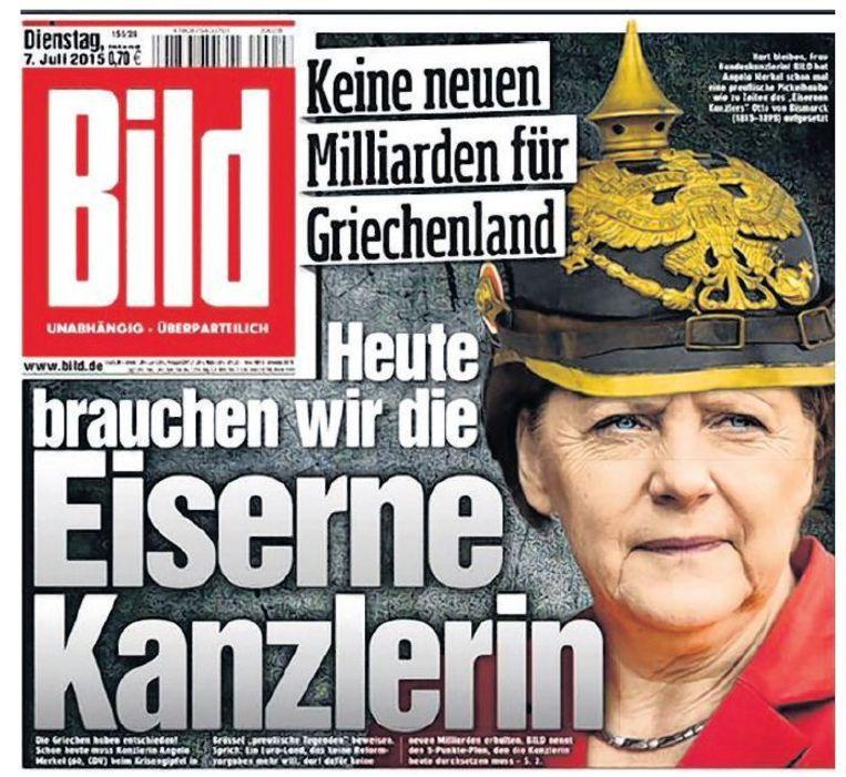 null Beeld Voorpagina Bild: `Vandaag hebben we de ijzeren bondskanselier nodig¿.