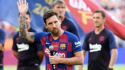 """Messi, die opnieuw """"om alle prijzen wil strijden"""", valt uit op training bij Barça en mist trip naar de VS"""