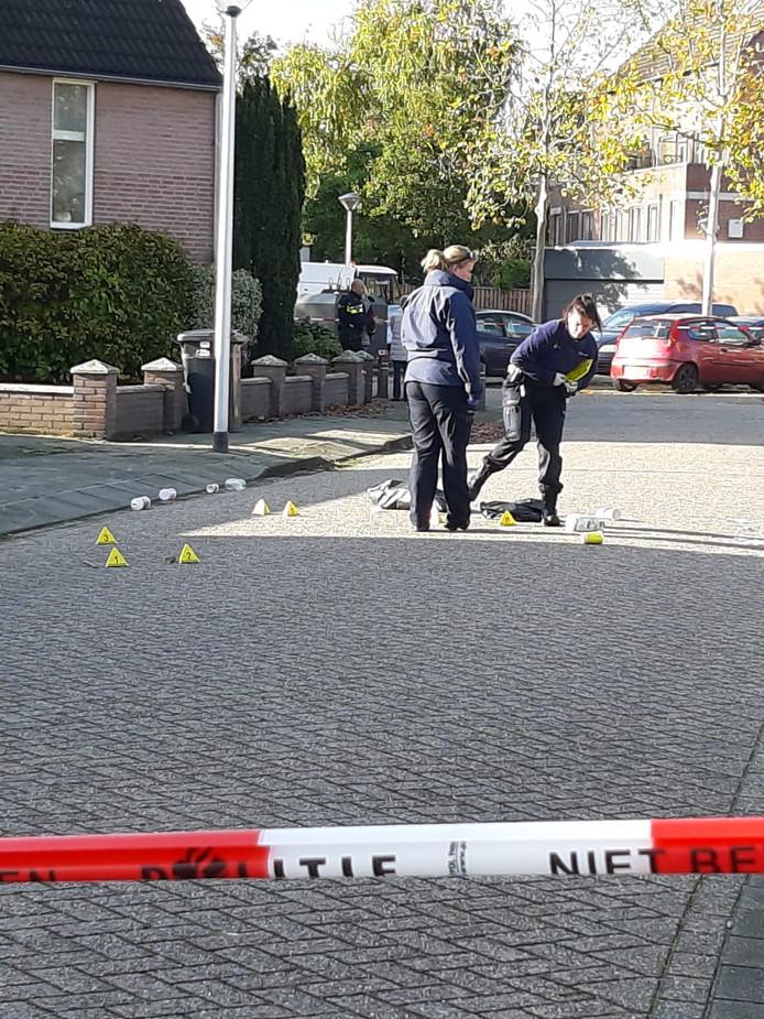 De politie verricht onderzoek.