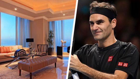 Het penthouse van Roger Federer in Dubai.