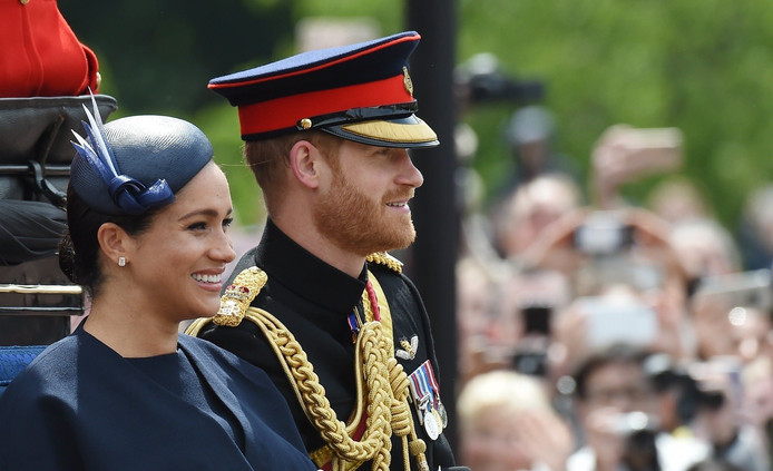 Le duc et la duchesse de Sussex à l'anniversaire de la Reine.