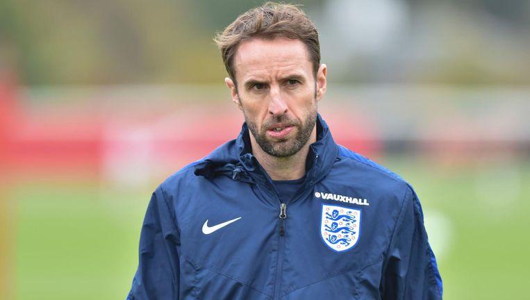 Gareth Southgate coachte eerder Jong Engeland. Beeld afp