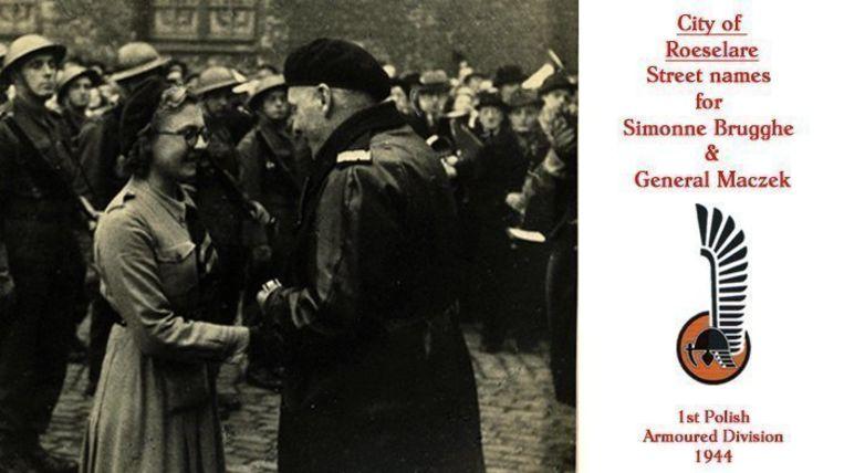 Simonne Brugghe kreeg in december 1944 een medaille van generaal Maczek.