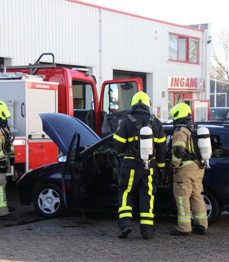Brand bij garagebedrijf Yerseke