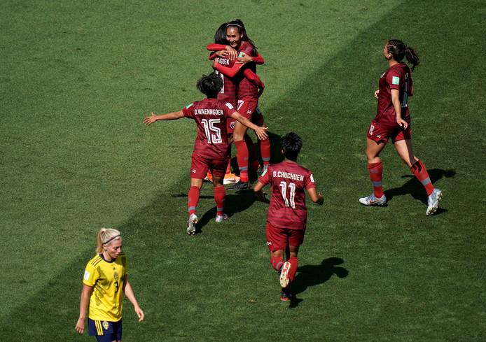 Kanjana Sung-Ngoen zorgde voor het enige Thaise doelpunt tot nu toe.