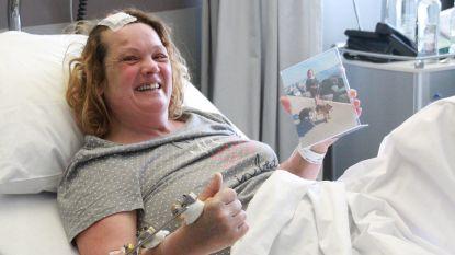 Ongeval was haar bijna fataal, maar Caroline (51) is intussen aan de beterhand
