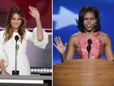 Commotie om gelijkenis speech Melania Trump en First Lady