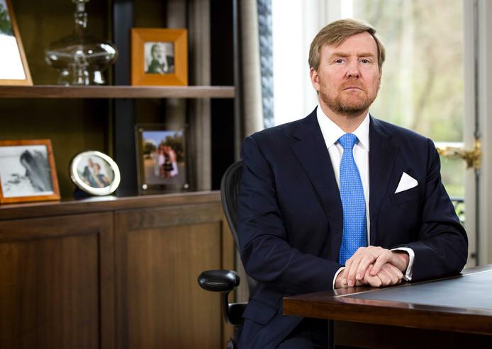 Koning Willem-Alexander hield vanuit Paleis Huis ten Bosch een toespraak over de coronacrisis.