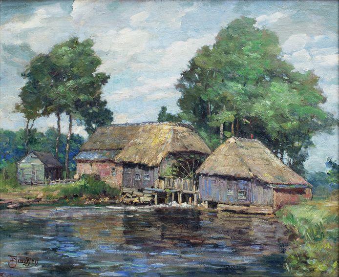 1850: schilderij van de Kasterense watermolen. De eerste vermeldingen van de watermolens in Boxtel en Liempde stammen uit de 13de eeuw.