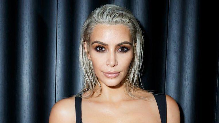 Kim Kardashian op het feest.