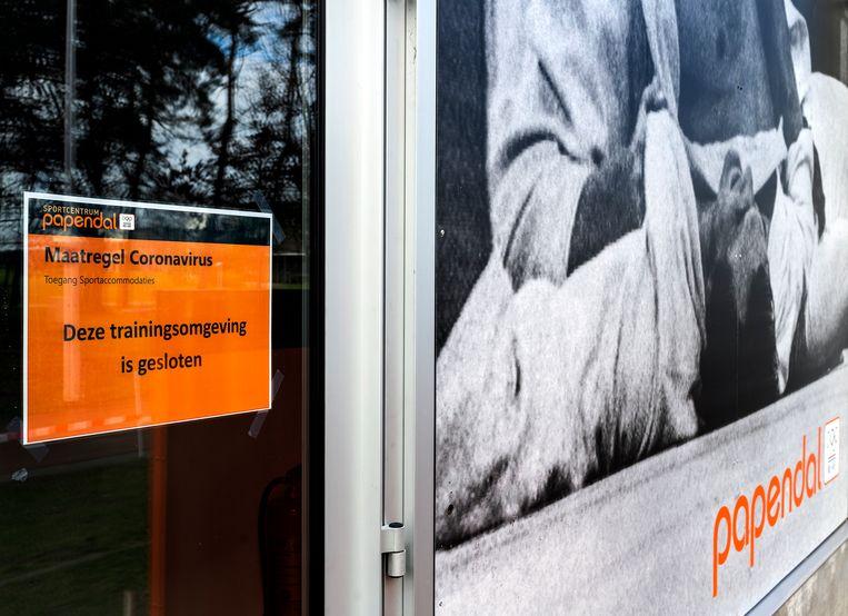 Trainingscentrum Papendal is gesloten vanwege het Coronavirus. Toch werd er getraind.   Beeld Klaas Jan van der Weij