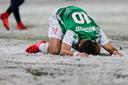 FC Dordrecht speler Denis Mahmudov baalt na gemiste kans