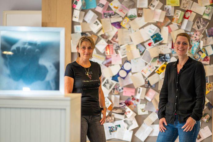 Rian van Schaik (links) en Evy de Waal van Stichting Make a Memory in Westerhoven.