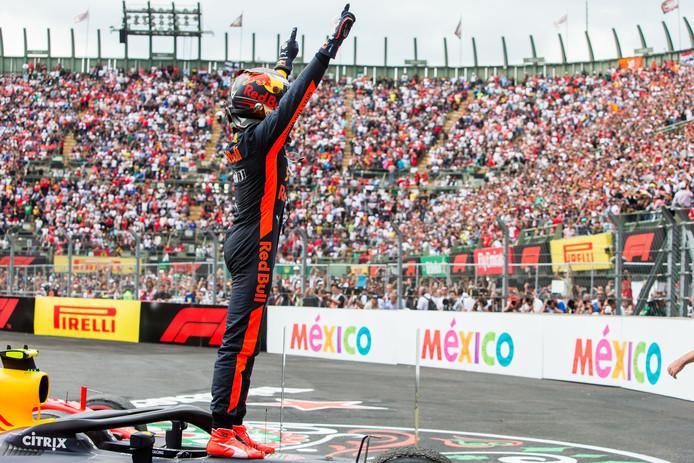 Max Verstappen won op 28 oktober vorig jaar de Grand Prix van Mexico.