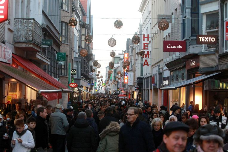 De Kapellestraat kreeg eind vorig jaar meer shoppers over de vloer dan grote steden als Gent en Brugge.