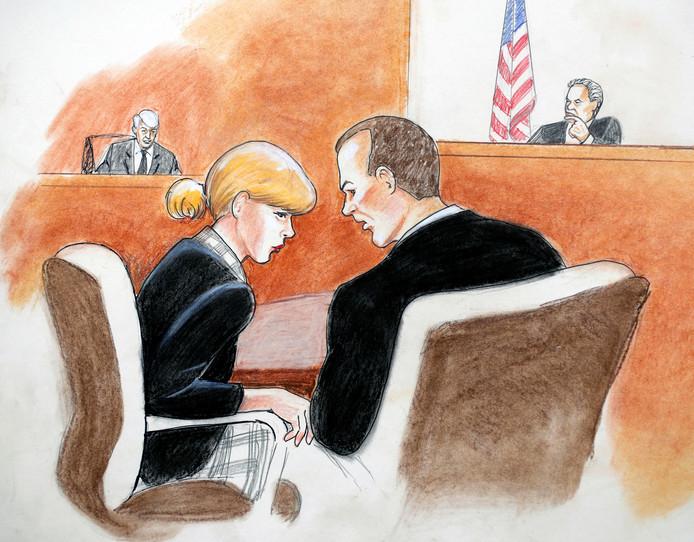 Swift in overleg met haar advocaat