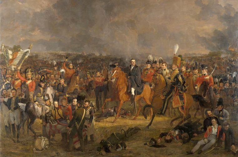 De Slag bij Waterloo van Jan Willem Pienema (1824). Beeld Collectie Rijksmuseum