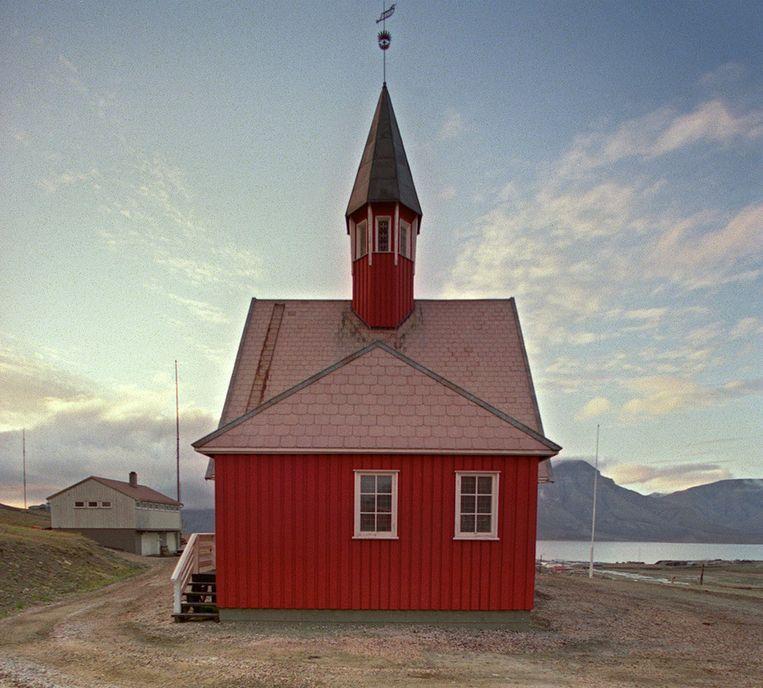 Augustus 1989: een kerk in het Noorse Longyearbyen Beeld AFP