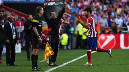 Champions League-finale al na 9 minuten voorbij voor Costa