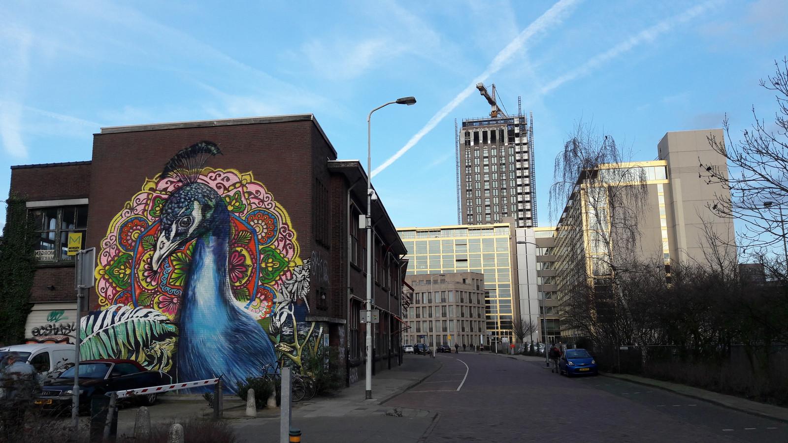 Het TAC-gebouw, de voormalige Philips personeelswinkel, aan de Vonderweg/Gagelstraat (rechts) in Eindhoven.  Dit deel wordt gesloopt en hier rechts wordt een (woon)toren van 11 verdiepingen gebouwd.