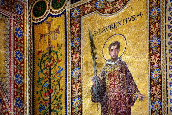Mozaïek van de heilige Laurentius.