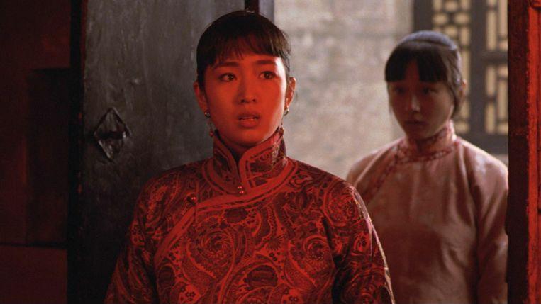 Gong Li (links) in Raise the Red Lantern van Zhang Yimou. Beeld