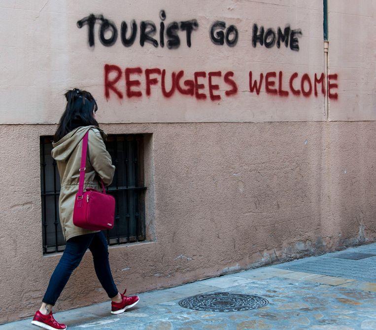 Archiefbeeld van veelzeggende graffiti in Palma de Mallorca.