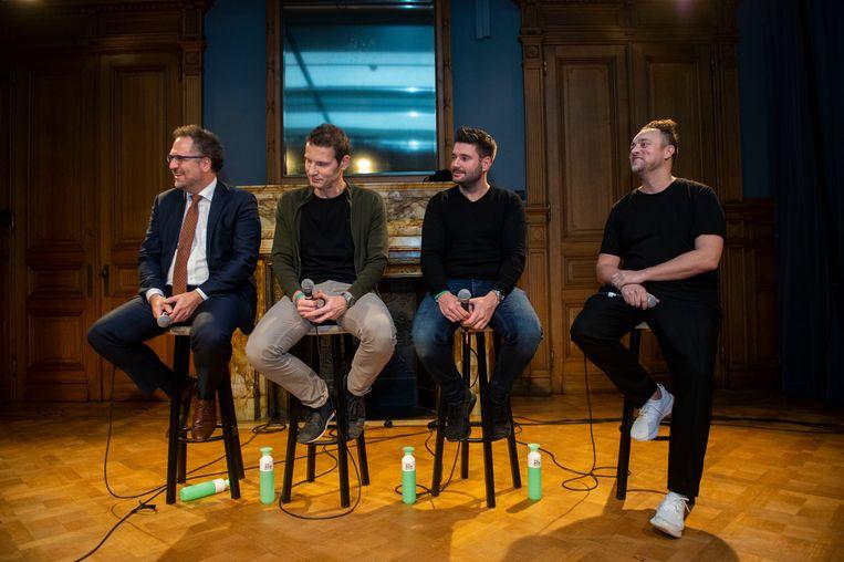 Koen Kennis, Peter Decuypere, Tom Diels en Joachim Marynen.