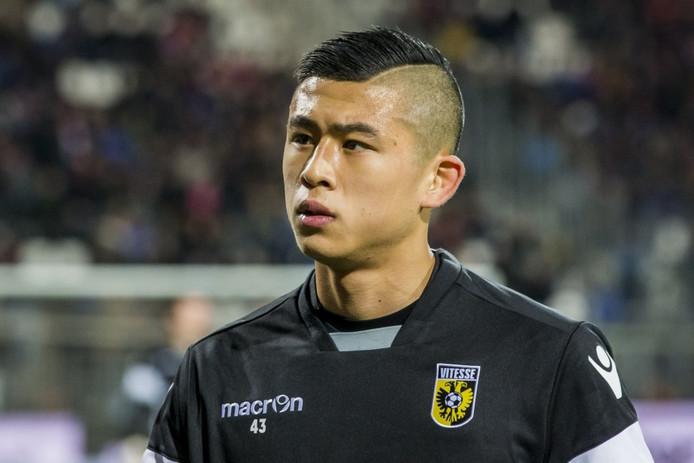 Yuning Zhang was trefzeker voor Jong Vitesse.