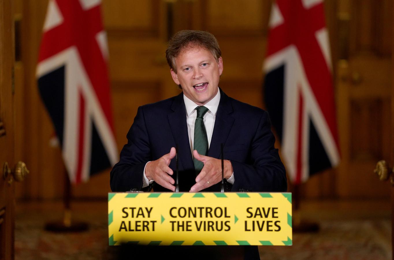 Brits minister van Transport Grant Shapps.