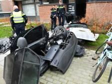 Gestripte auto uit kelderbox gehaald op Margarethaland