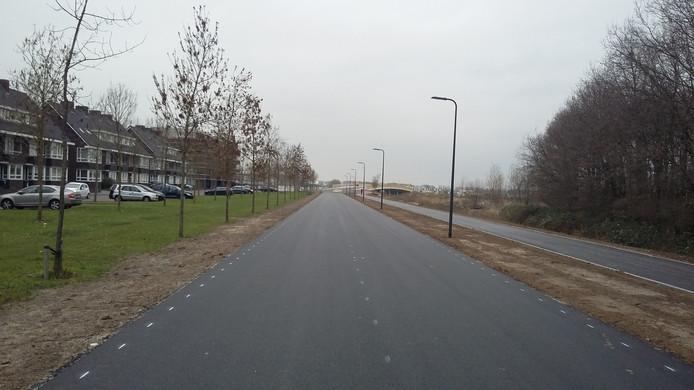 De Vlietdijk-Noord, parallel aan de Coupletweg, in De Groote Wielen in Rosmalen moet in februari open.