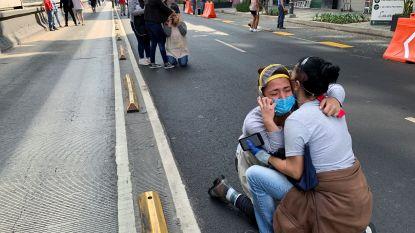 """Zware aardbeving van 7,4 in Mexico: """"Zeker 5 doden, 15 mensen zitten vast onder ingestort gebouw"""""""