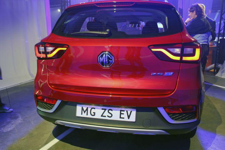 De SUV MG ZS EV.