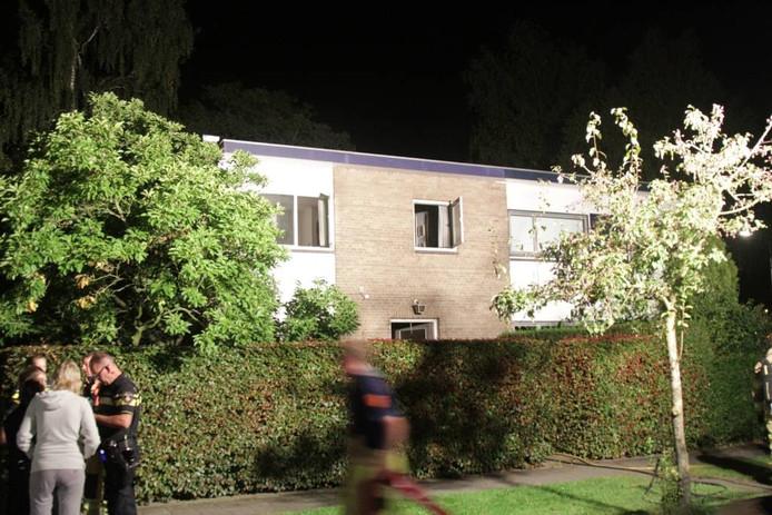 De getroffen woning in Zwolle.