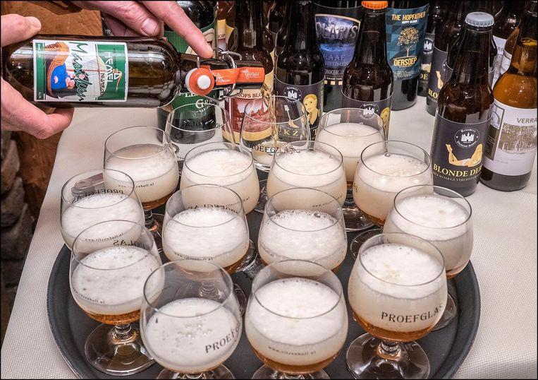 Bier, bier en nog eens bier. Beeld Theo Peeters