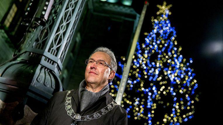 Frènk van der Linden en Piet de Blaauw volgden de burgemeester van Rotterdam een jaar lang Beeld anp