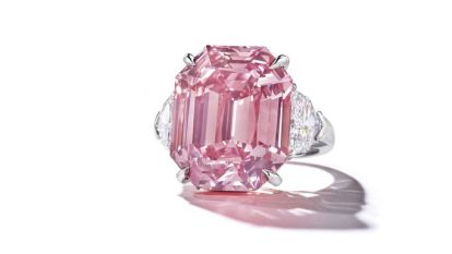 Fancy Vivid Pink Diamond breekt record