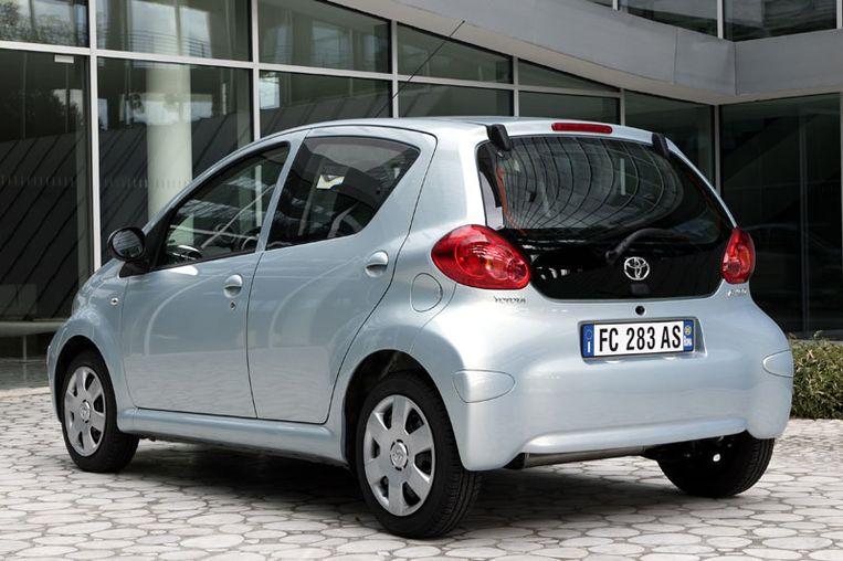 De Toyota Aygo vijfdeurs, zoals die van 2005 tot 2009 is gebouwd
